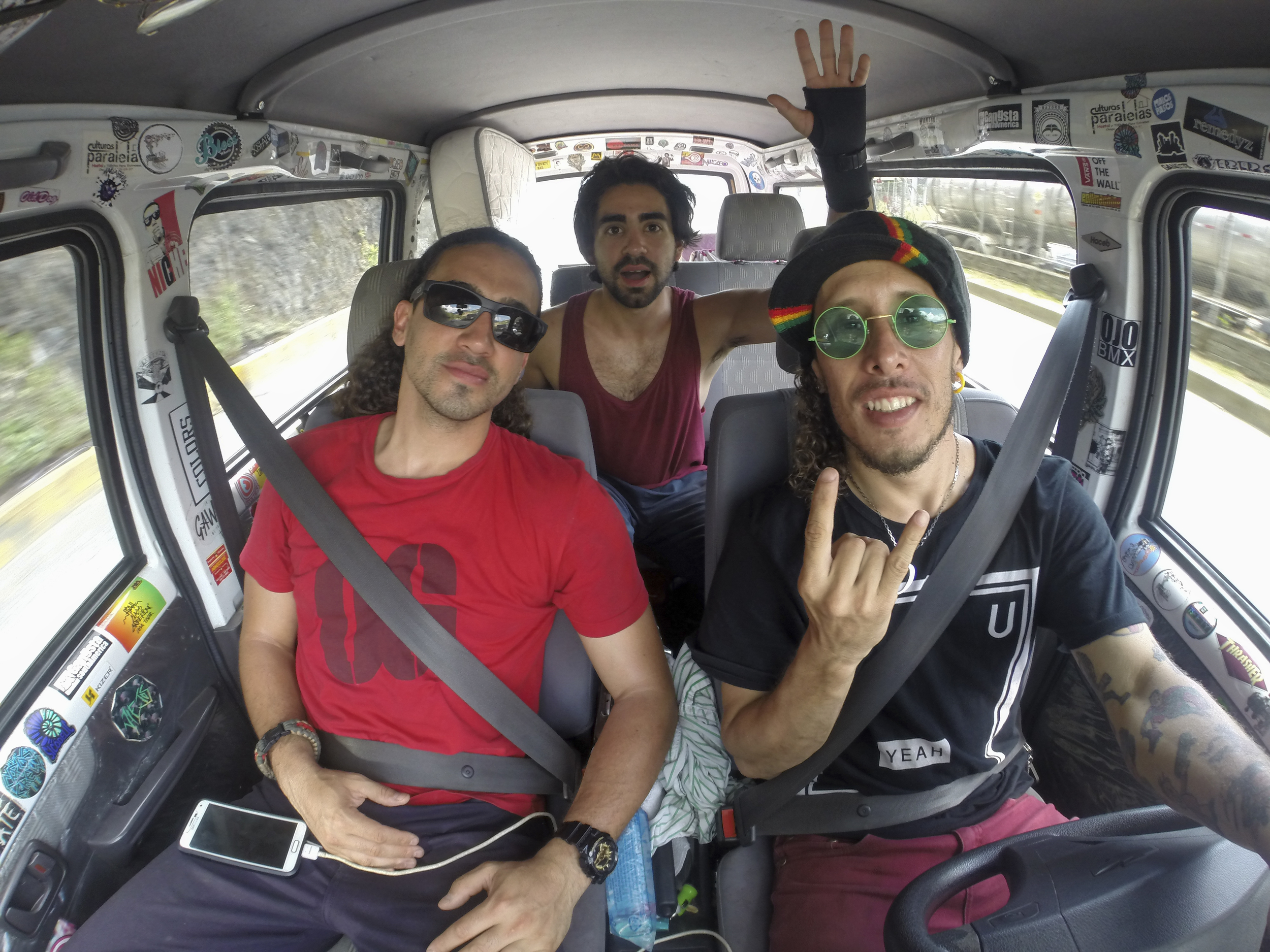 We left Zepe and Vuenza at the skatepark and headed back to Medellin as a trio.  GoPro Heor 3+ Black (iso161, f/2.8, 1/60s)