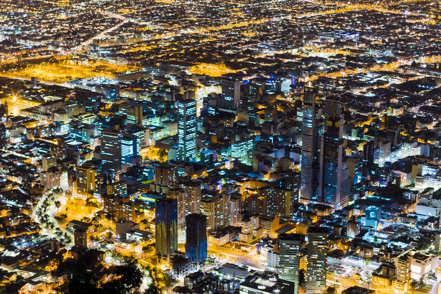 bogota colombia city landscape night austin paz