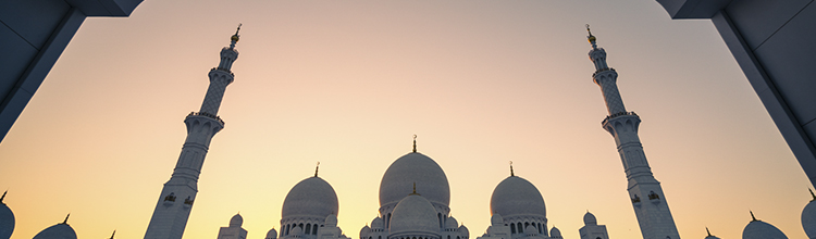 sheikh zayed grand mosque sunset austin paz abu dhabi