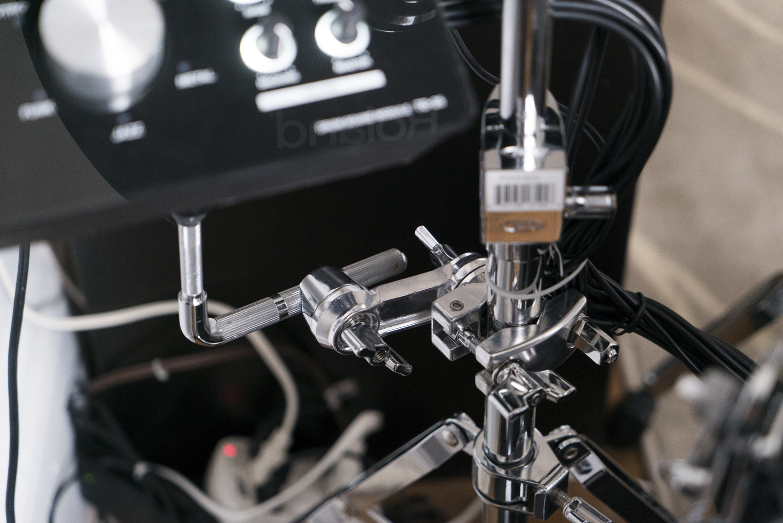 roland td25 hybrid electric drum kit gibralter clamp austin paz