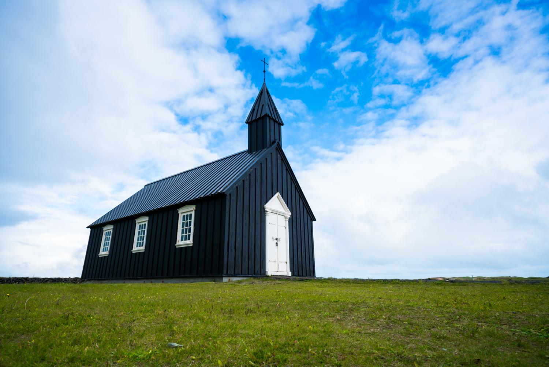 iceland black church Búðakirkja landscape  austin paz