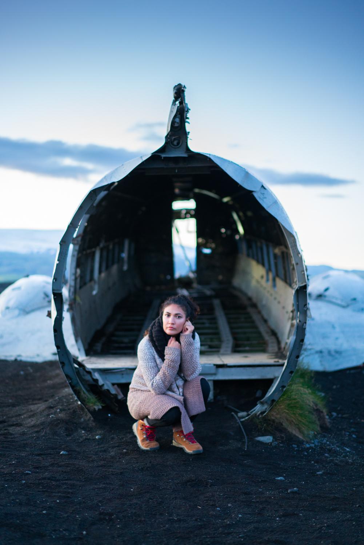 Iceland DC3 plane crash travel photography amanda lee