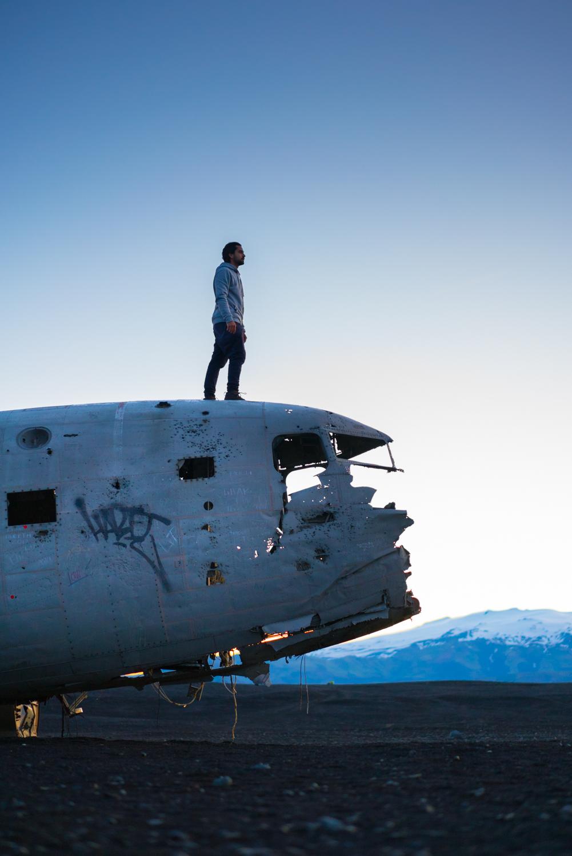Iceland DC3 plane crash travel portrait photography austin paz