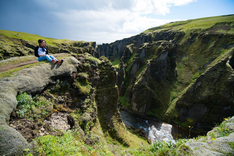 Fjaðrárgljúfur iceland landscape travel photography amanda lee