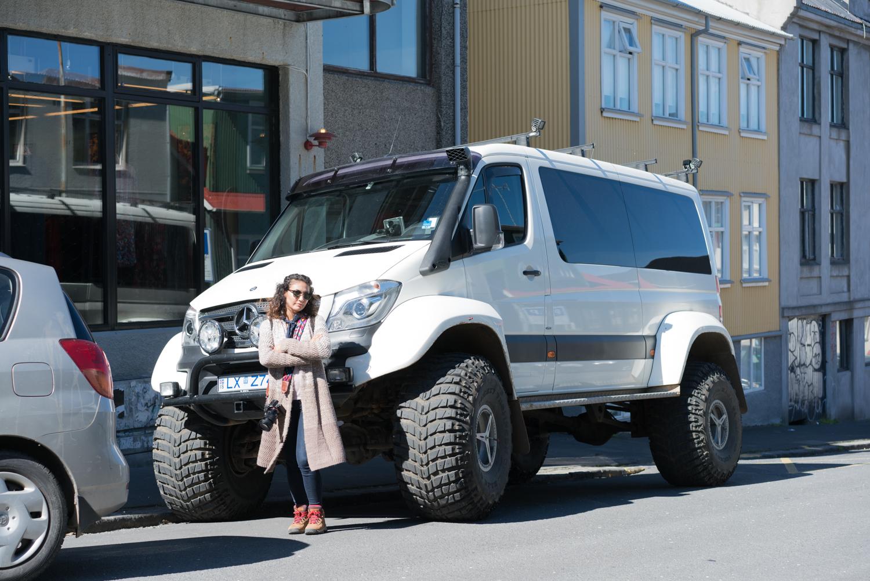 iceland reykjavik big truck amanda lee