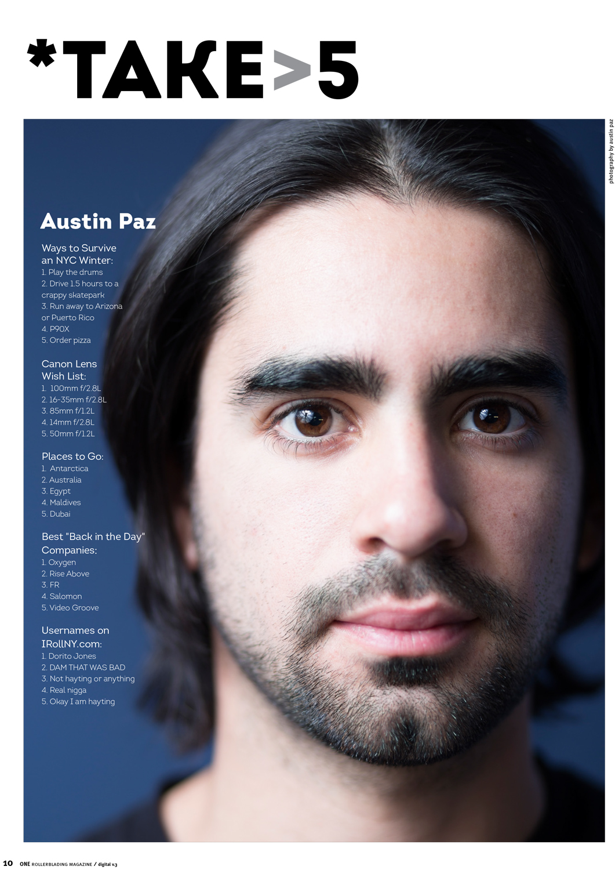 austin paz one magazine