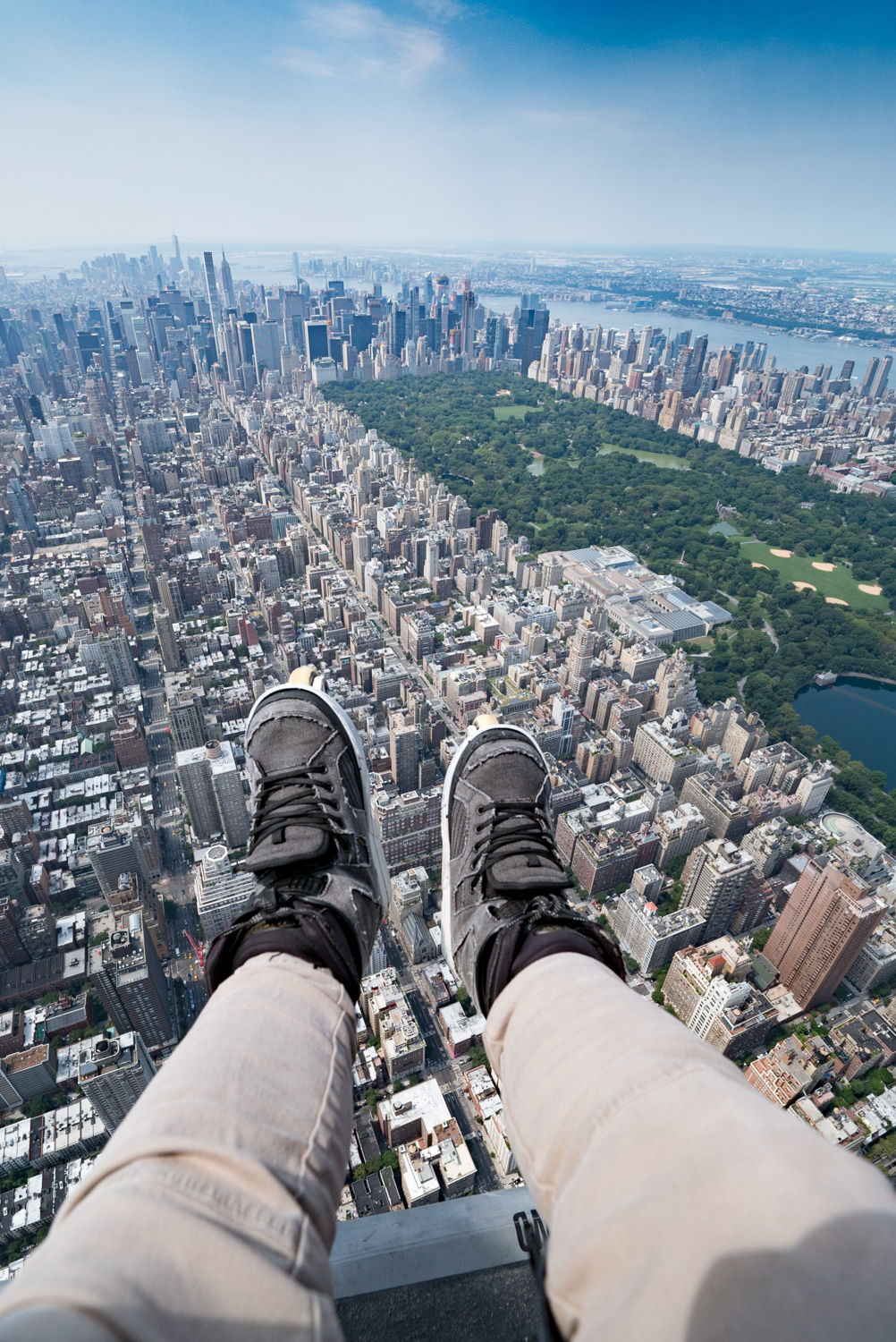 Brought my blades with me 1,500ft above NYC!
