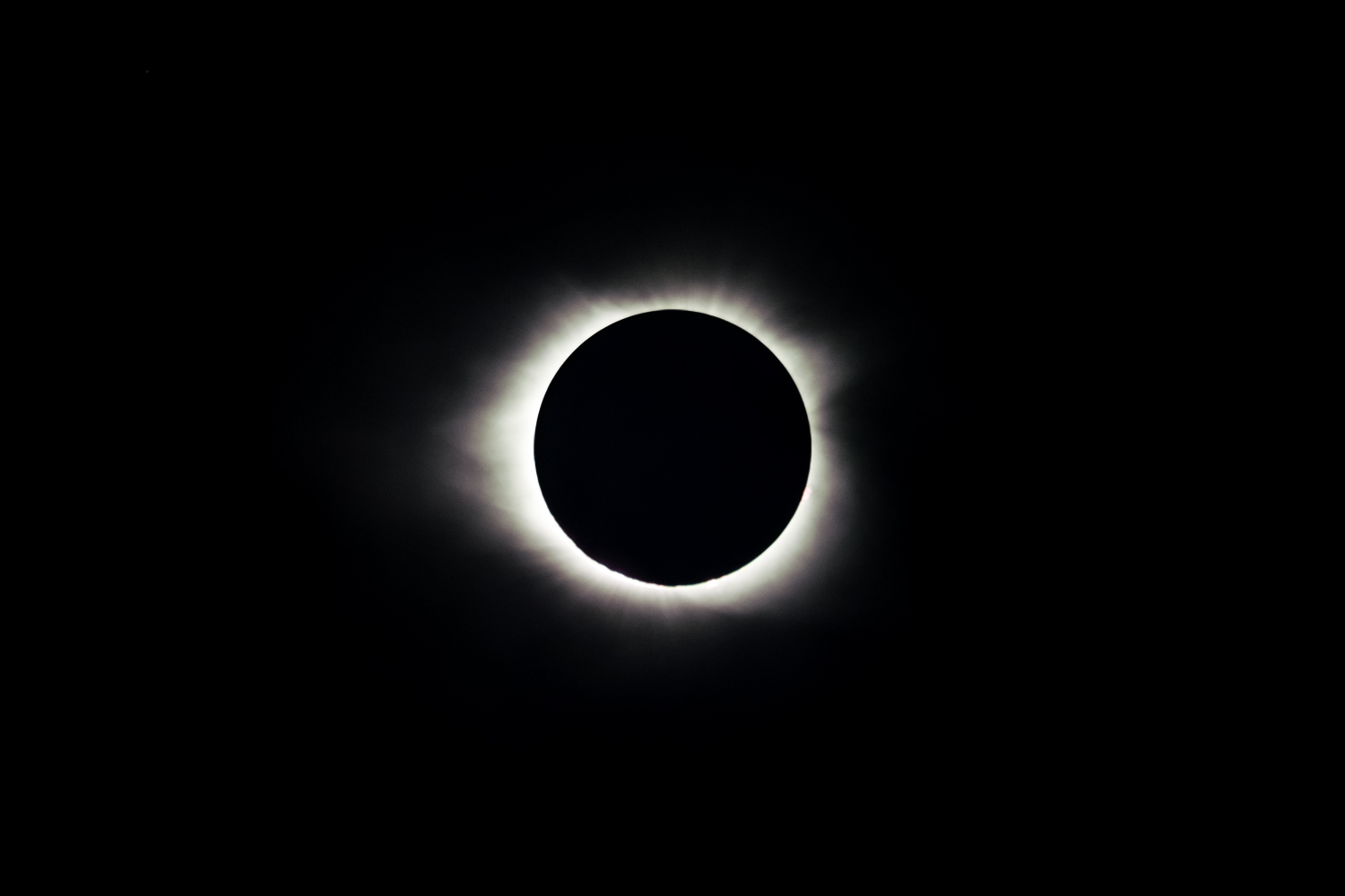 Totality from the 2017 solar eclipse.