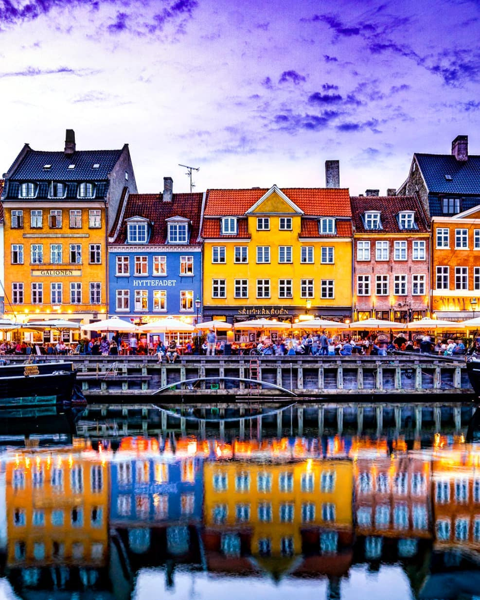 A classic shot of Copenhagen, Denmark.