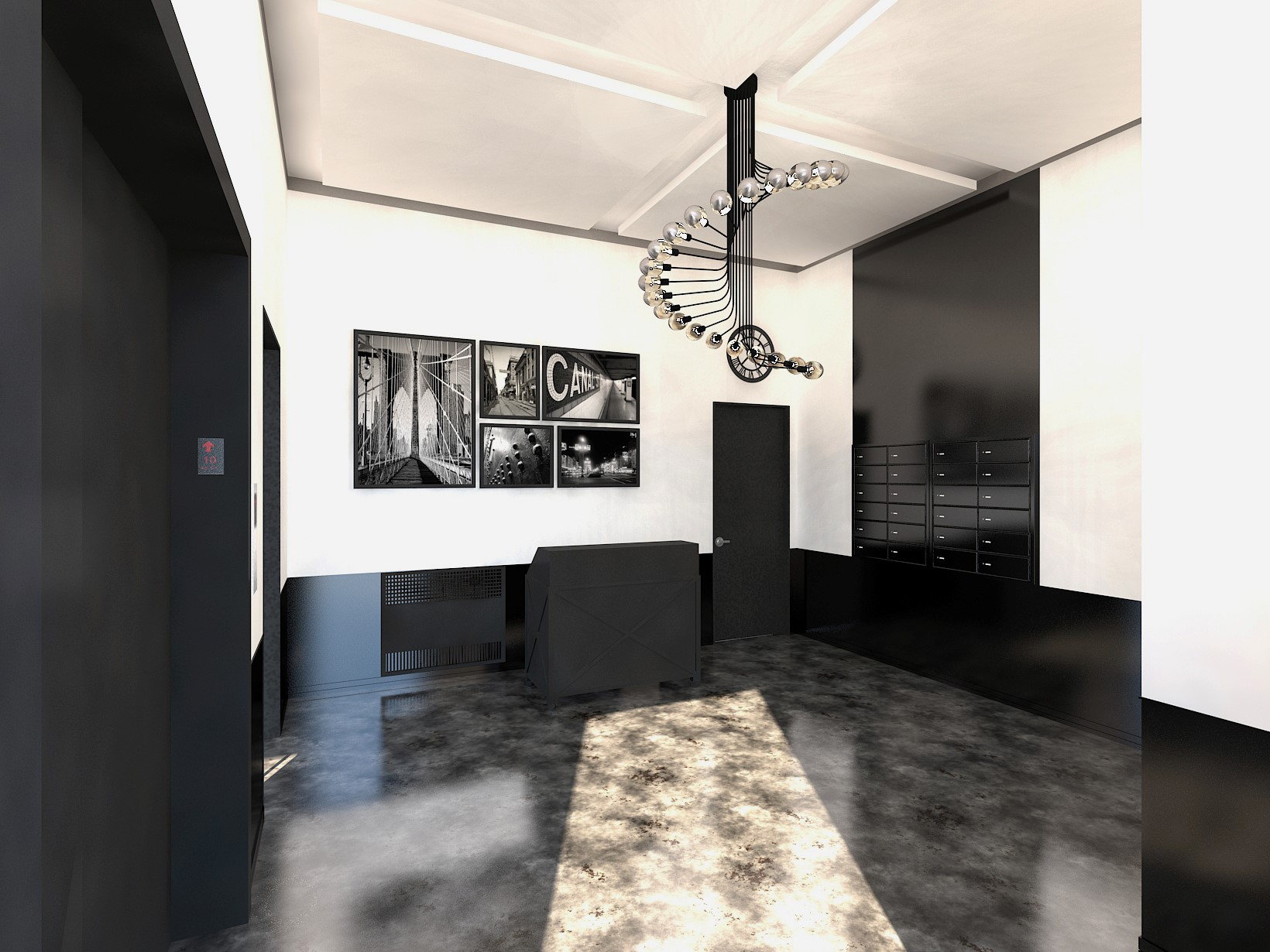 COMMERCIAL LOBBY \ RENOVATION \ TRIBECA, NY