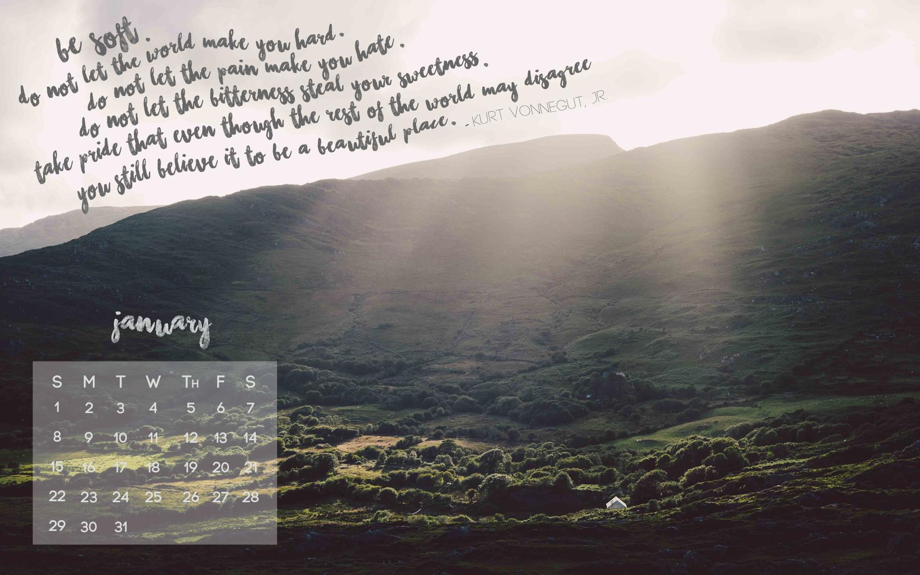 January - Desktop Version