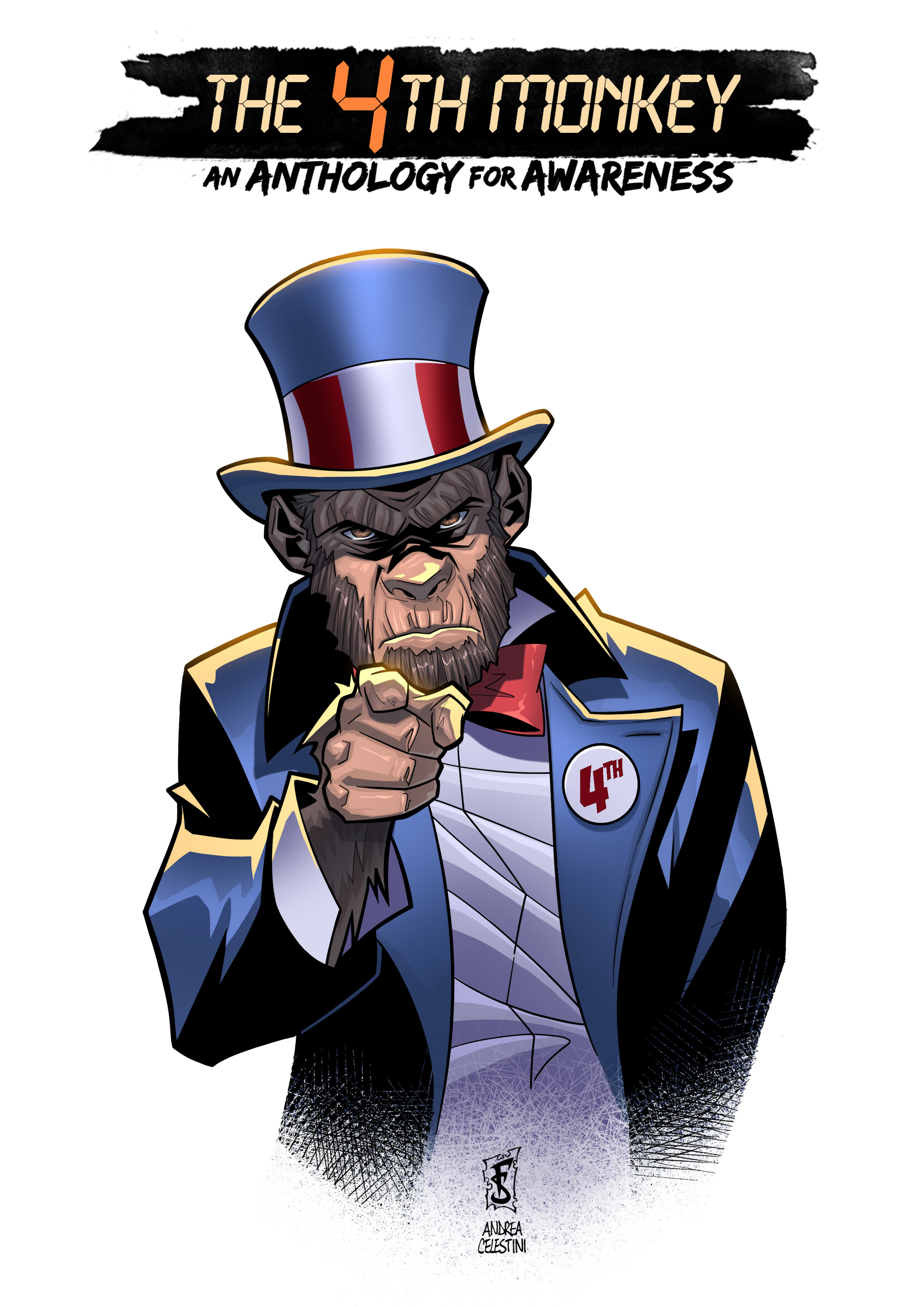 'The 4th Monkey Needs YOU' Art by Frederico Sabbattini Colors by Andrea Celestini
