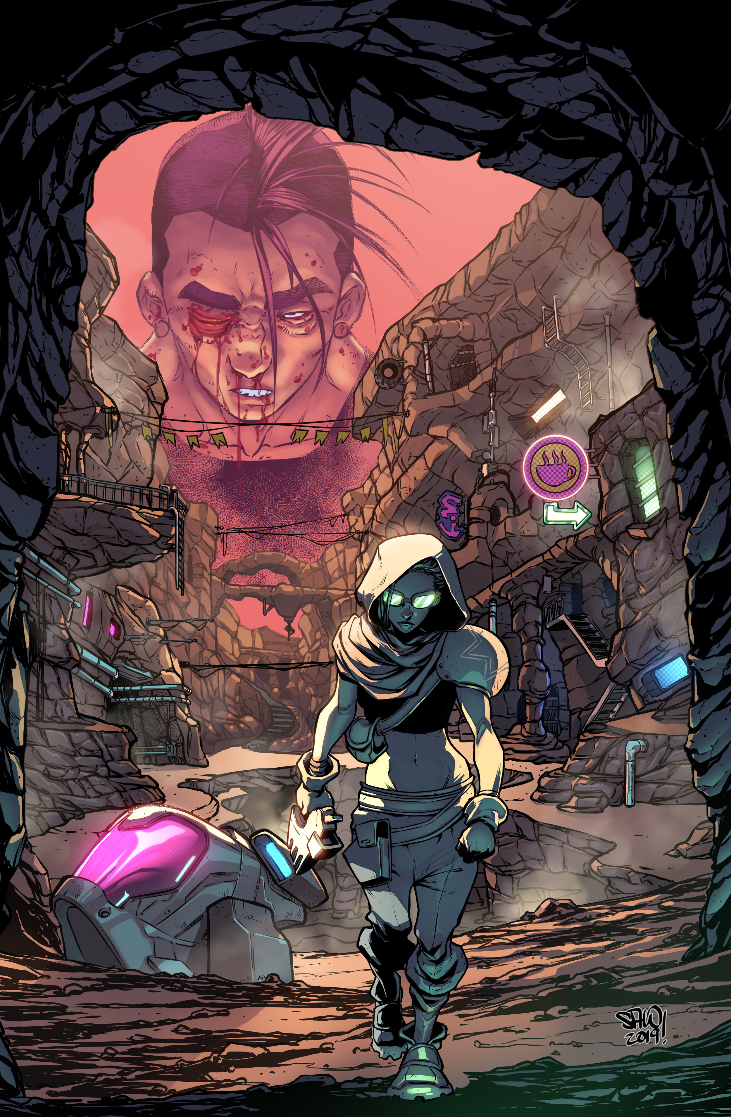 Issue 2 Cover Art by Salo Farias and Ander Zarate