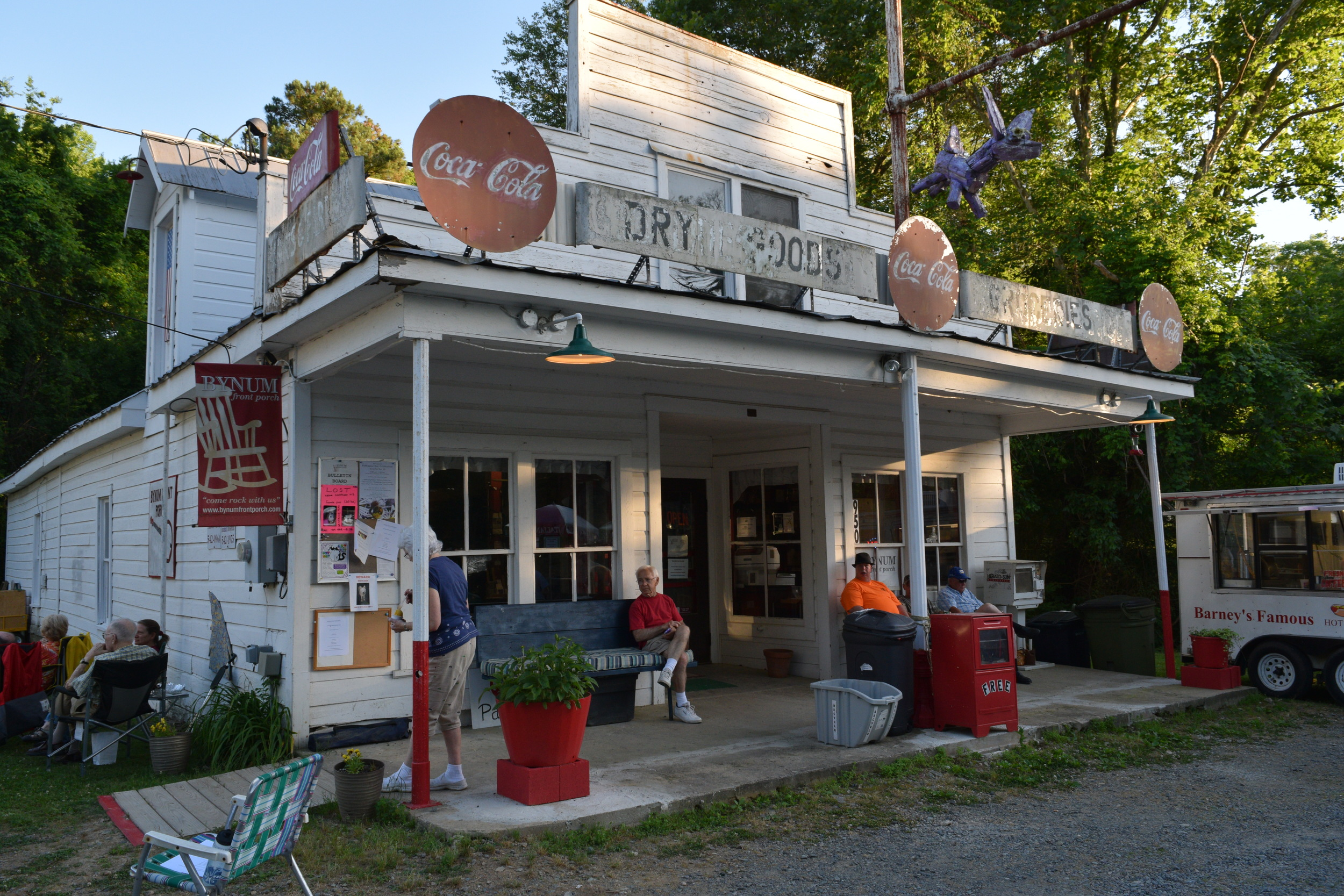 The Bynum General Store before the popular summer music series.