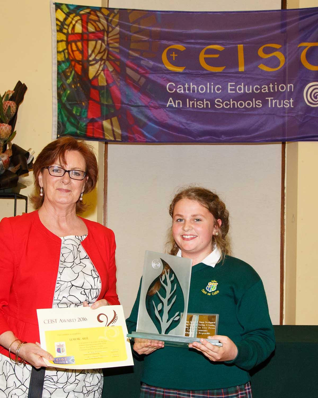 Leah McAree inaugural winner of the CEIST Award