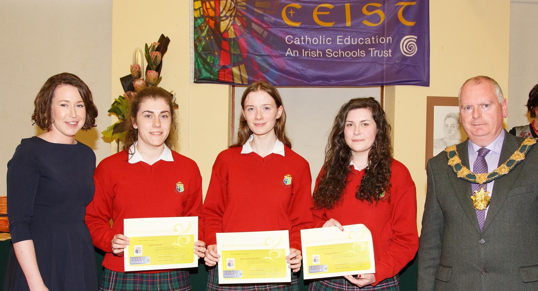 INESPO winners Ellen Fitzgerald, Niamh Nyhan & Aoife Dolan