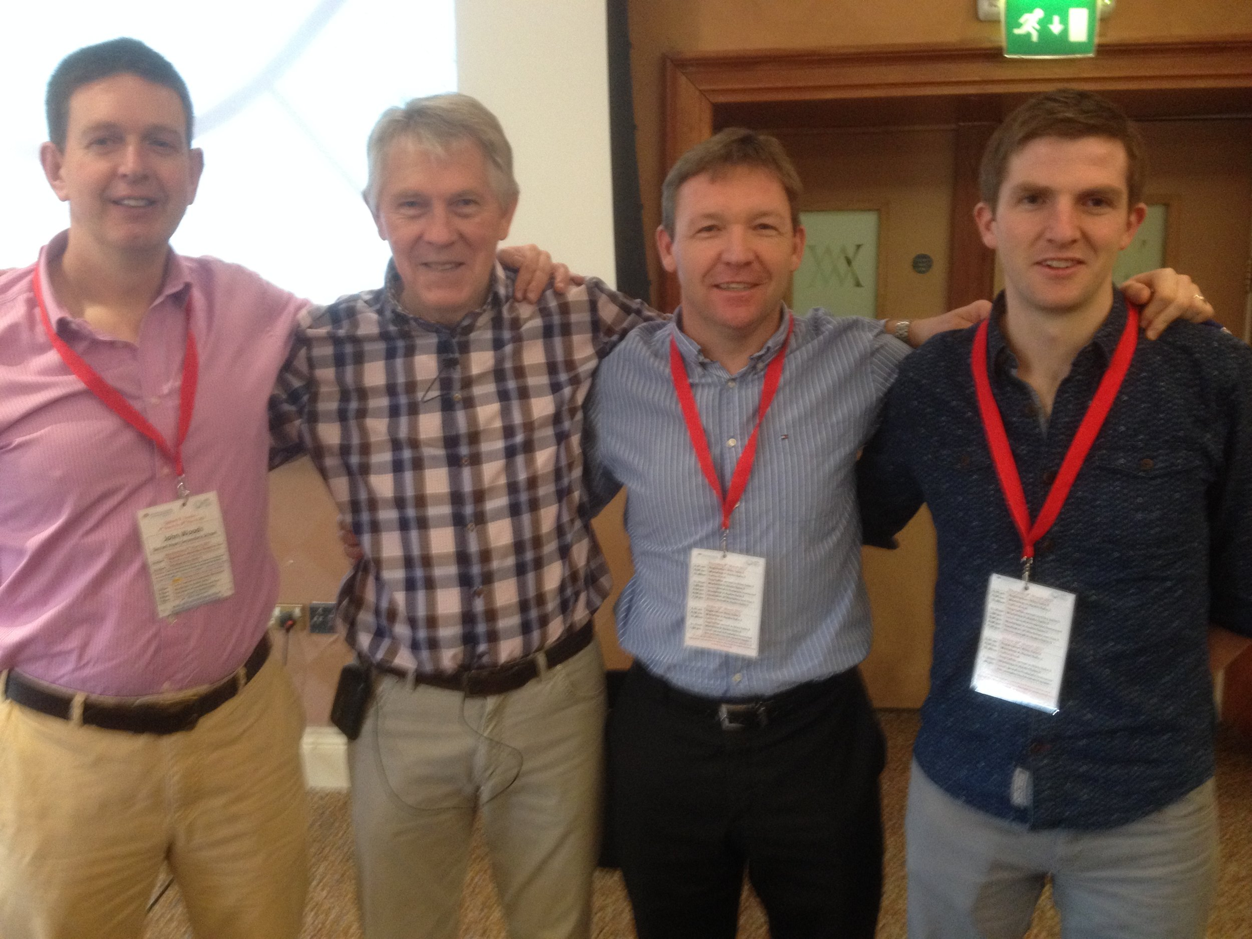 """Left to right (Mr. J.Woods, Prof. Barrie Bennett, Mr. B.Walsh, Mr. C. Kiely) at the teaching and Learning """"Instructional Leadership"""" programme."""