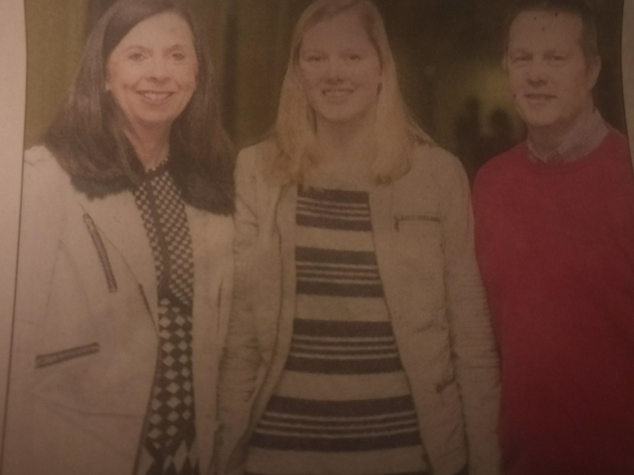 Abbie is studying BEd in education and psychology. Abbie is photographed with her mum and dad Grainne and Jonathon.