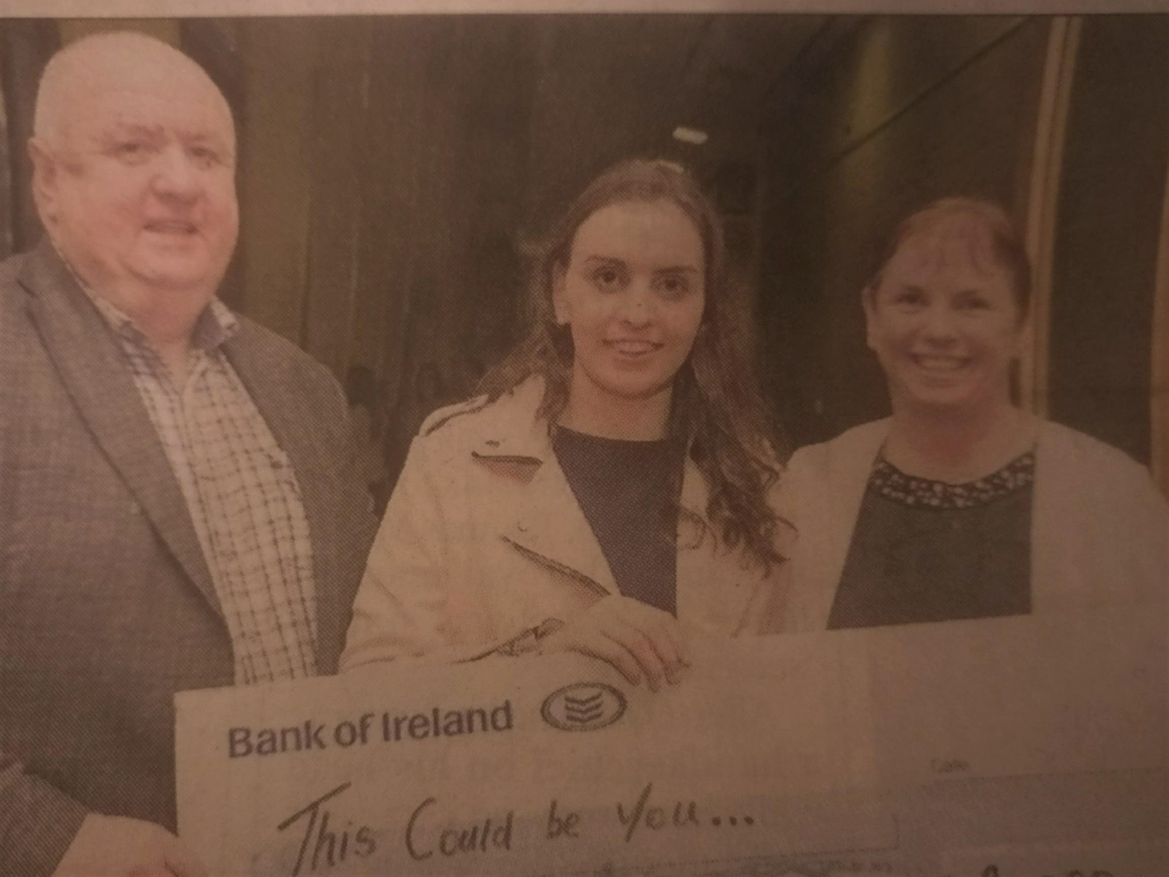 Deirdre O'Callaghan is studying BEd in education. Included in the photograph with Deirdre is her dad Noel and her mum Ann.