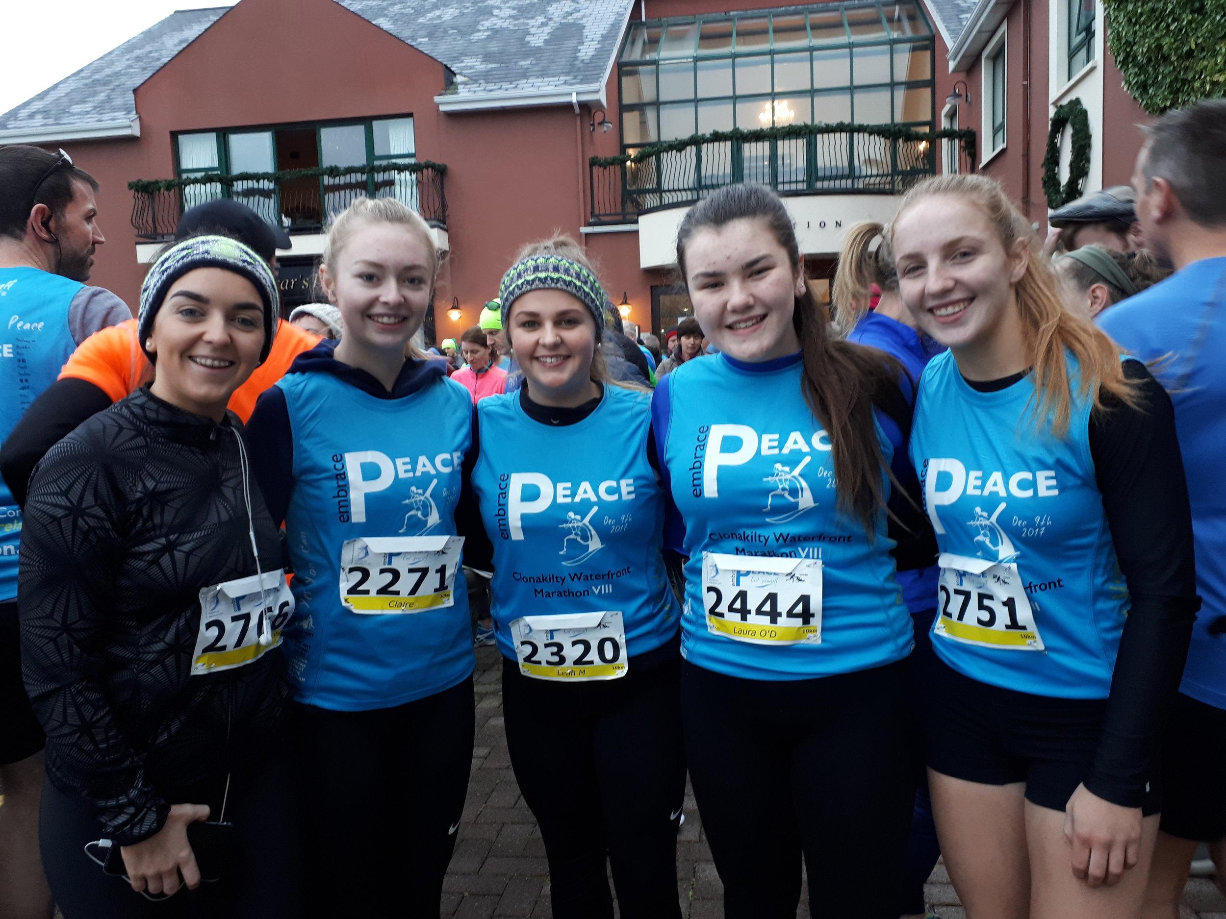 Lynn Knowles, Eve Crowley, Leah McAree, Laura O'Donovan and Meabh O'Donovan