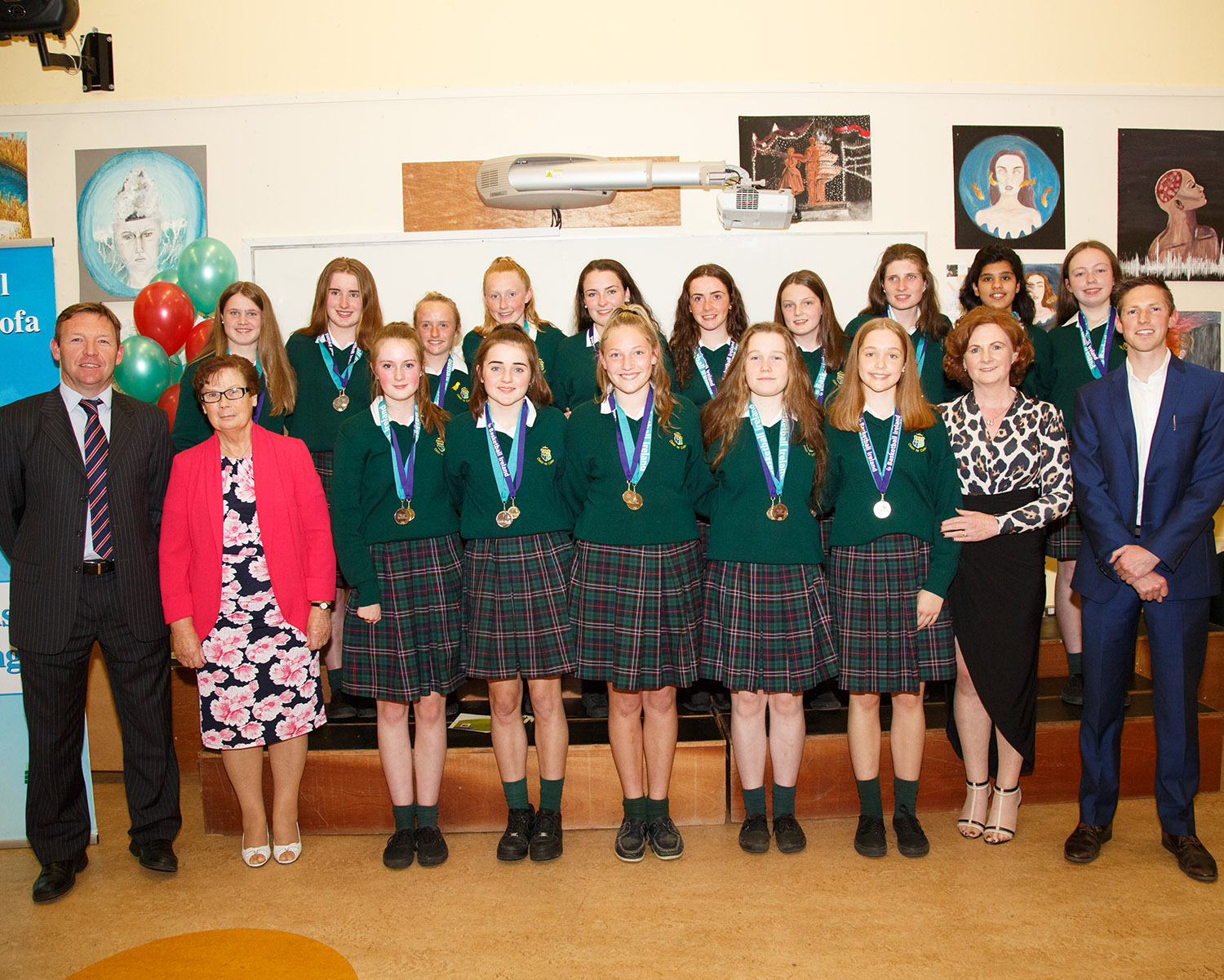 2nd year Basket ball team who reached the All Ireland Finals