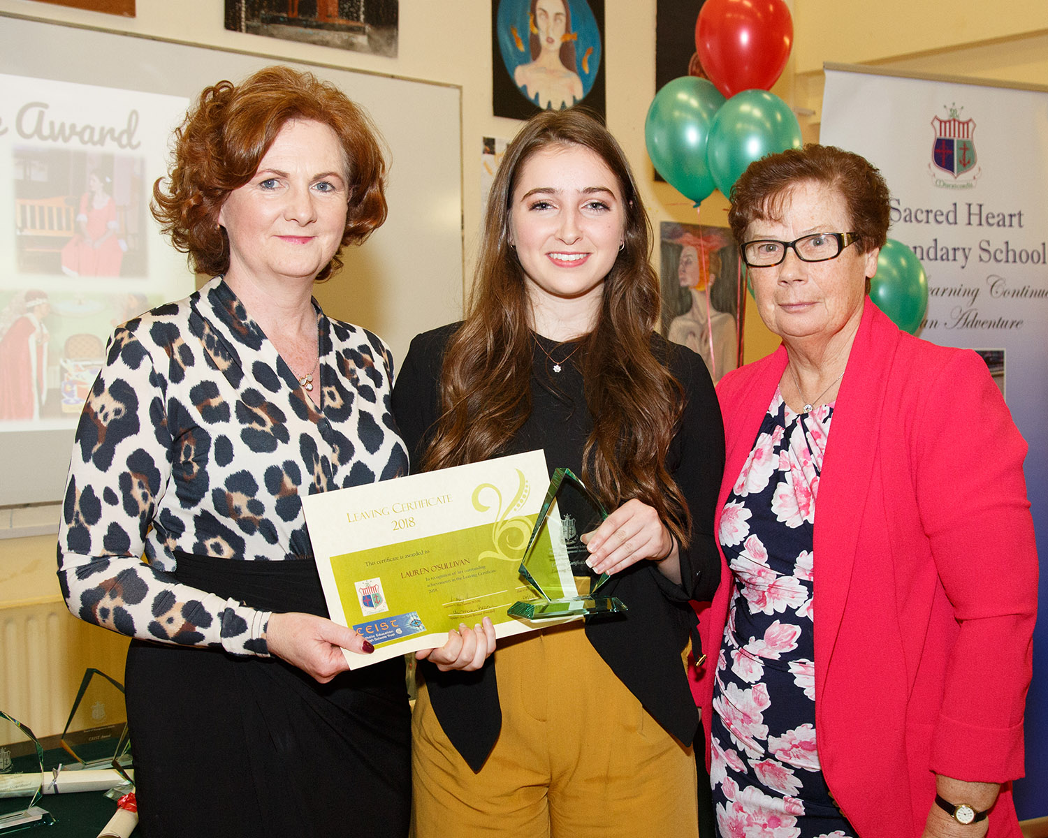 Winner of the Leaving Certificated Student of the Year : Lauren O'Sullivan