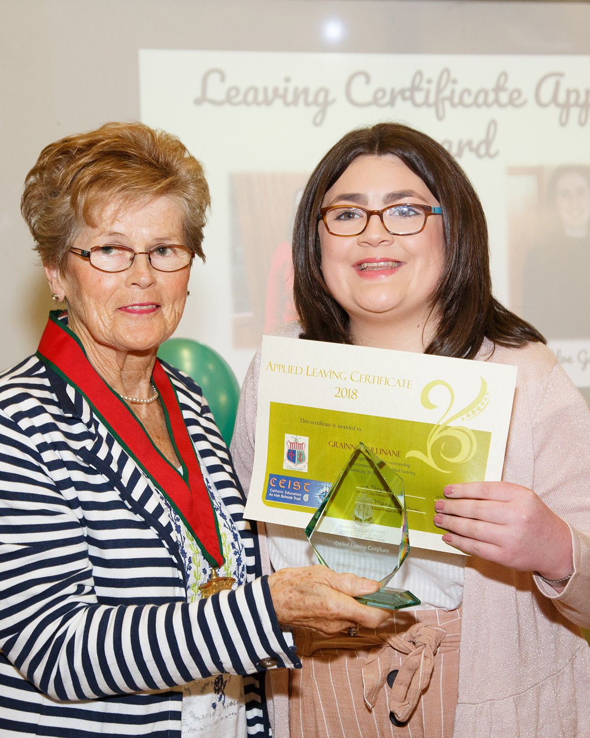 Joint Applied Leaving Certificate Student of the Year Grainne Cullinane