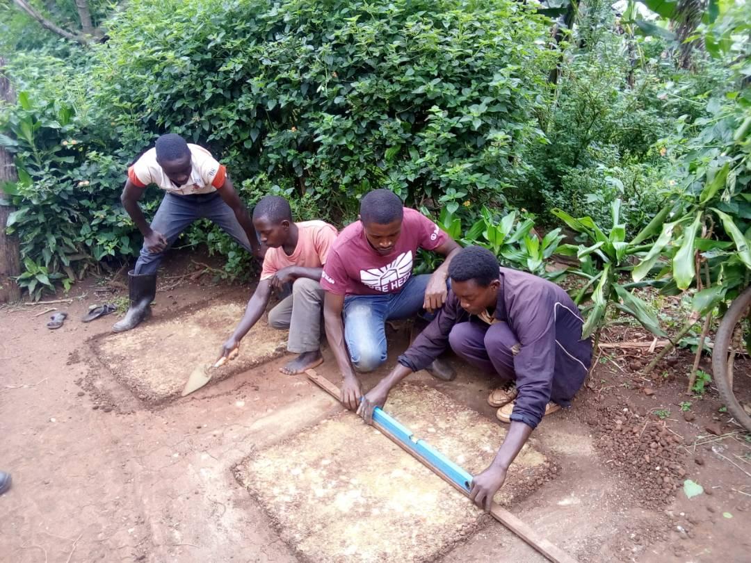 EarthEnable masons receive training on proper compaction techniques