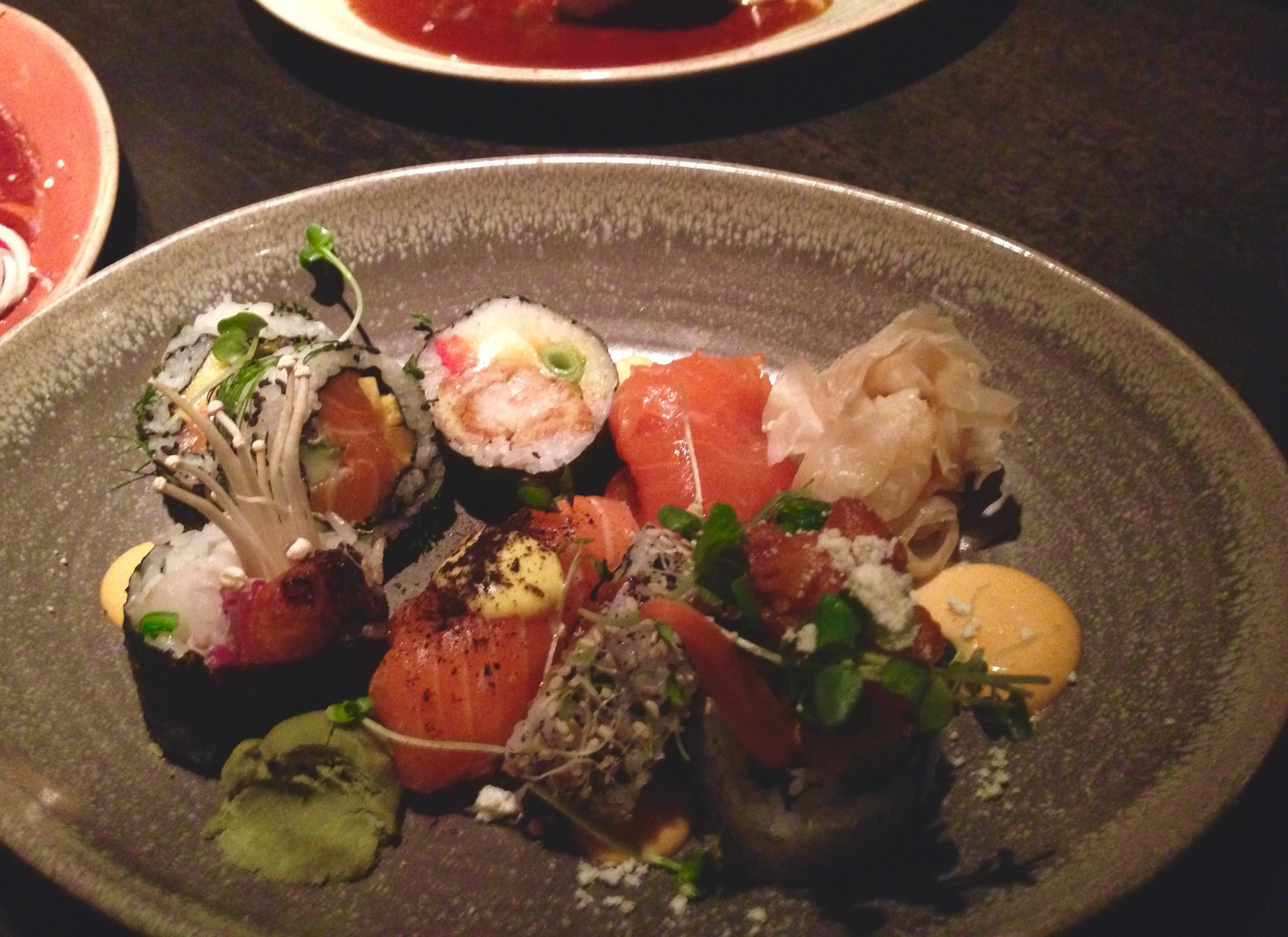 Sushi delicacies in Reykjavik´s Krystil, one of the finest restaurants in town.
