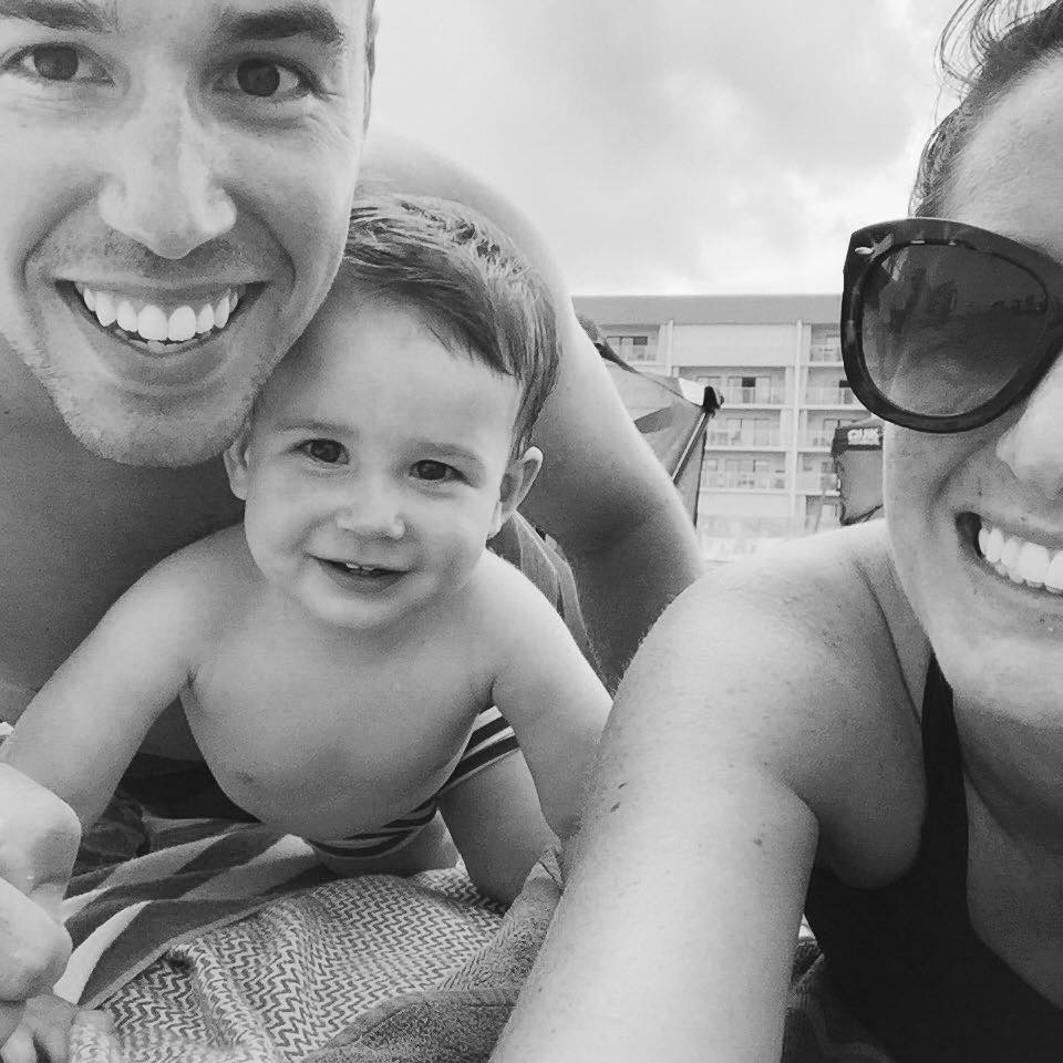 Liz, her husband Weston and their son Jeremiah!