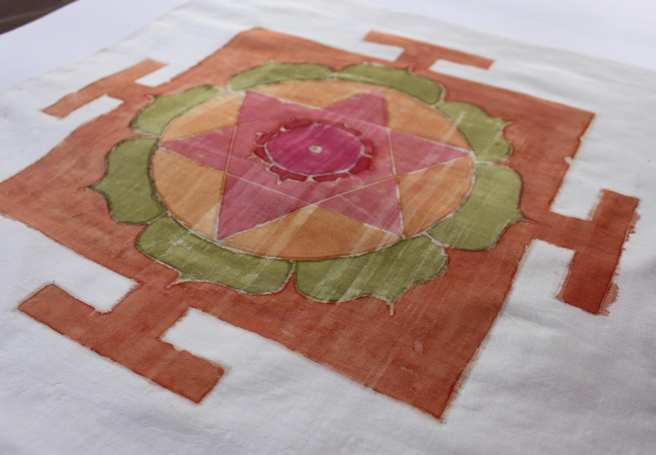 Kamala, detail, painting on silk