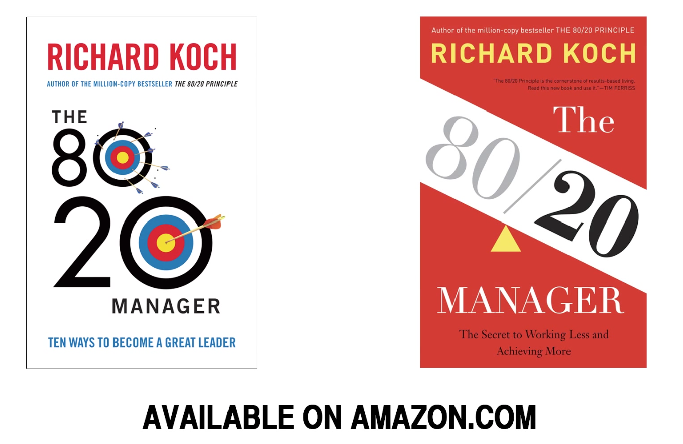 Click here or the image  above to link to Richard Koch's books on Amazon.