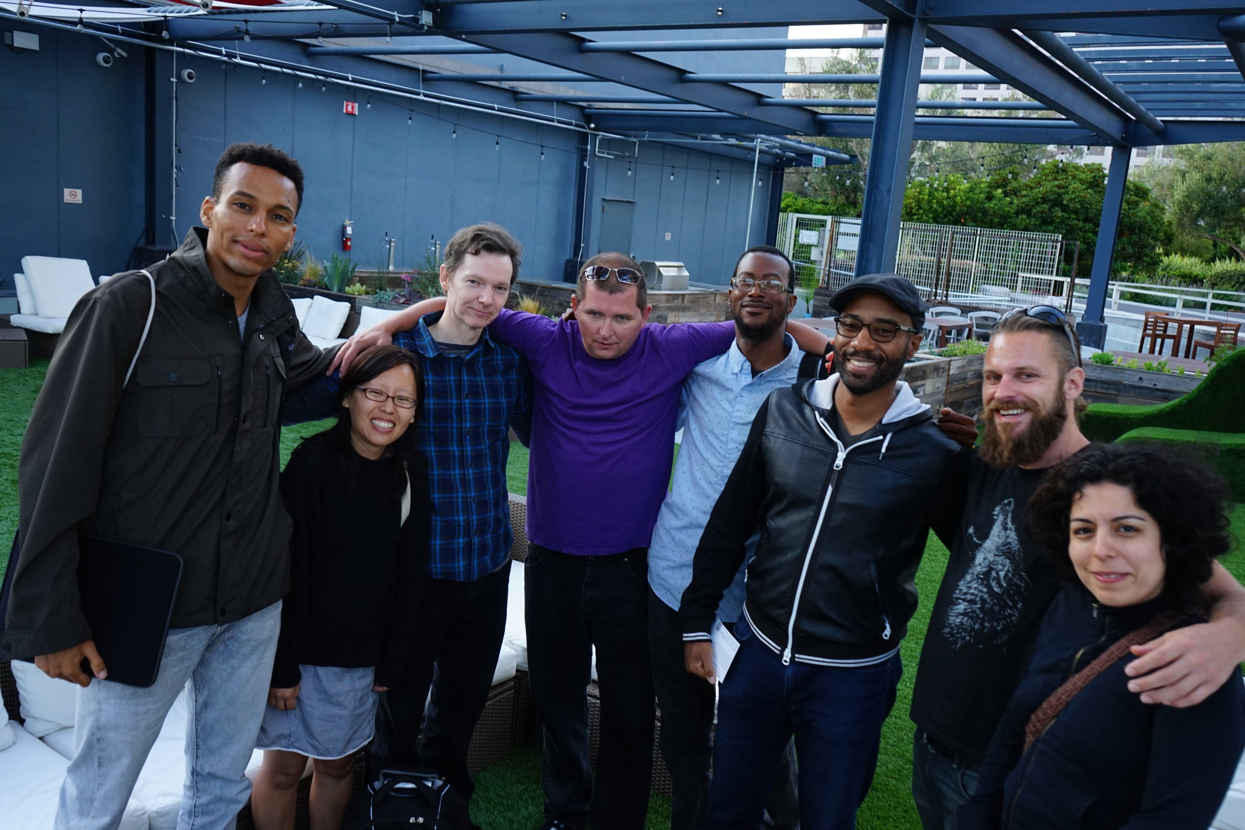 Gryp Media Creators Meetup started on the  @Port Workspaces roof deck in 2017, Oakland, CA, USA