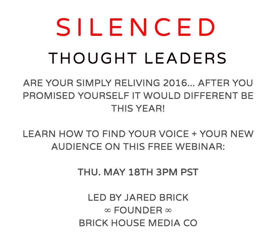 silenced thought leaders