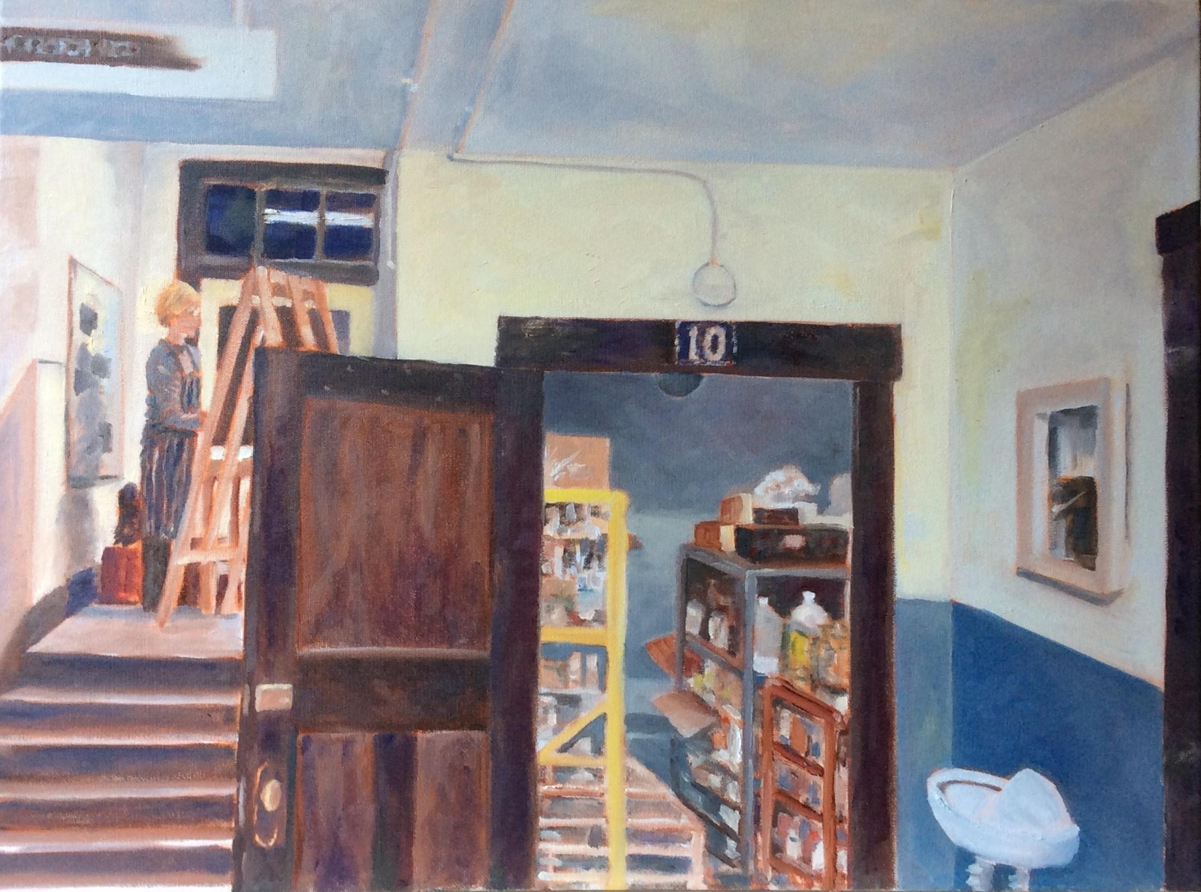 Basement Painting   Oil 18 x 24