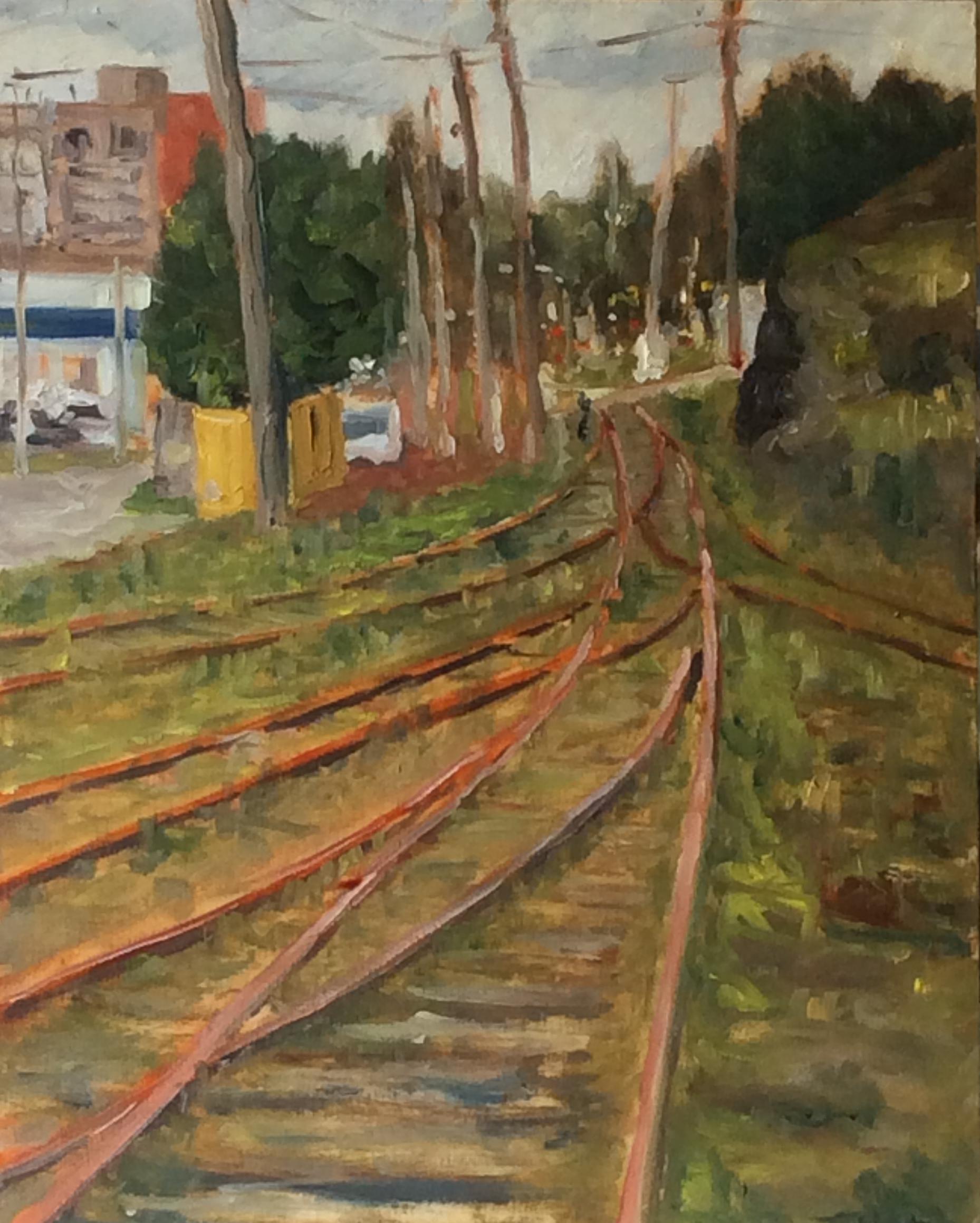 Railway Line  s   Oil 11 x 14