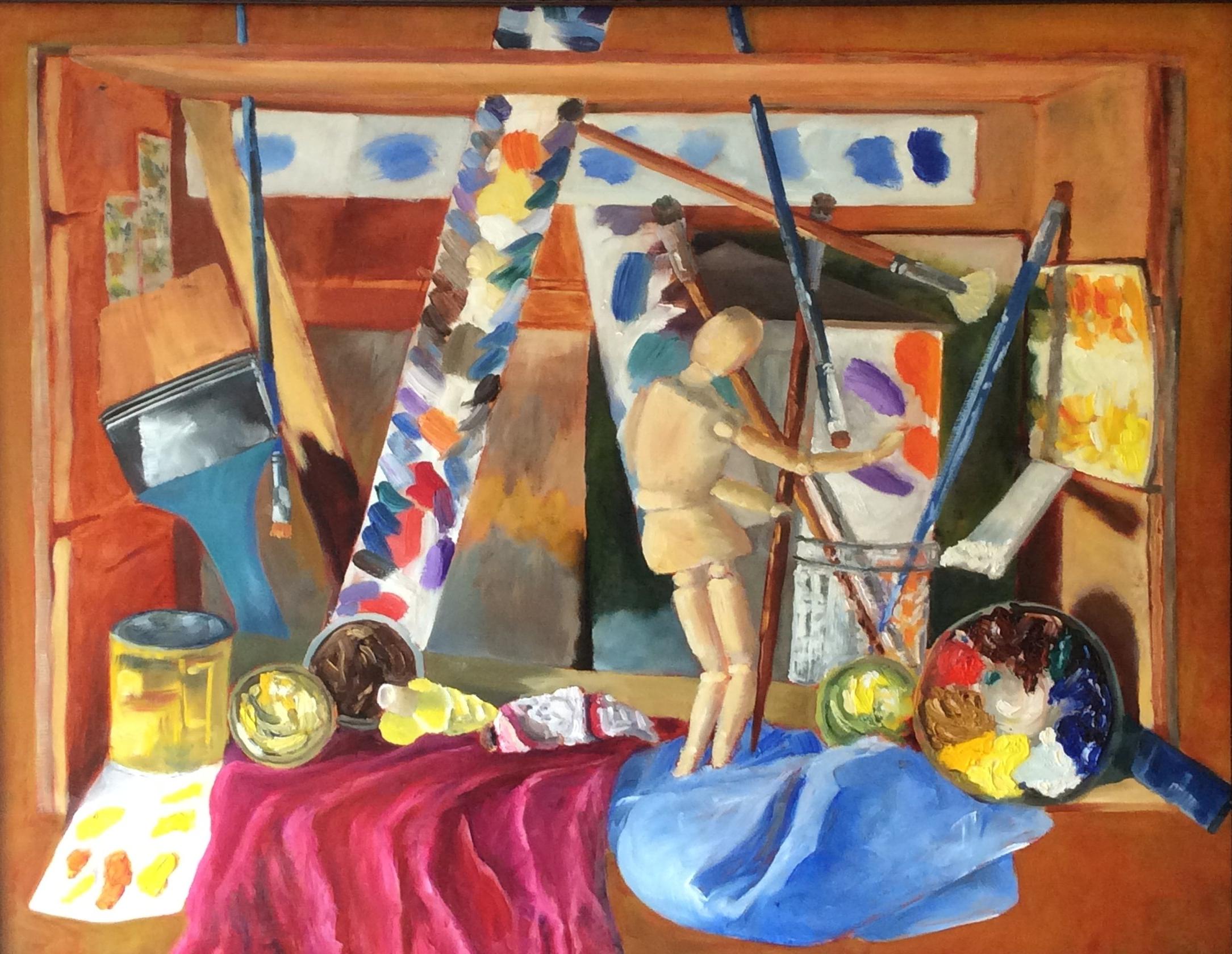 Studio Box Painting   Oil 24 x 30