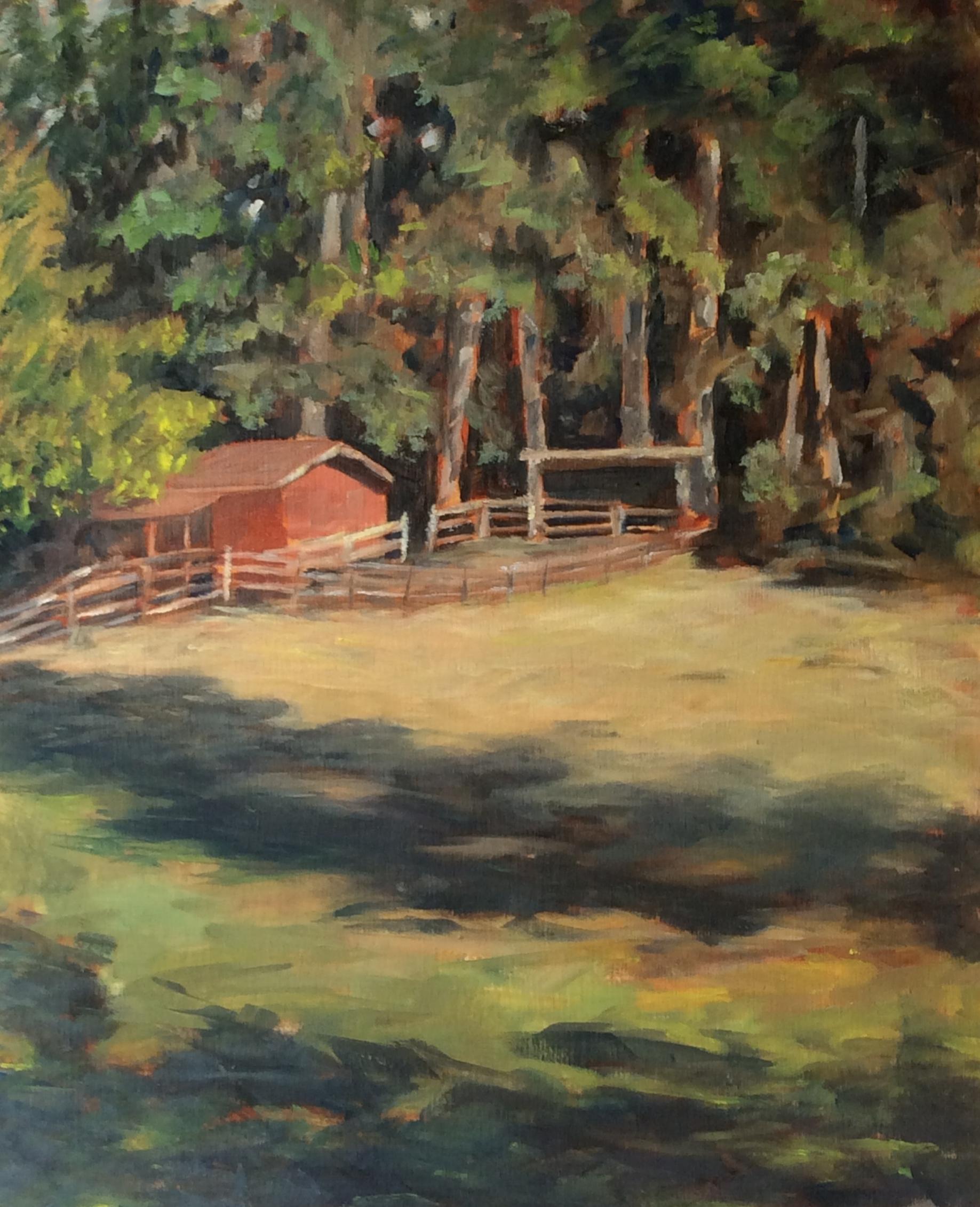 Frank's Farm   Oil 14 x 11