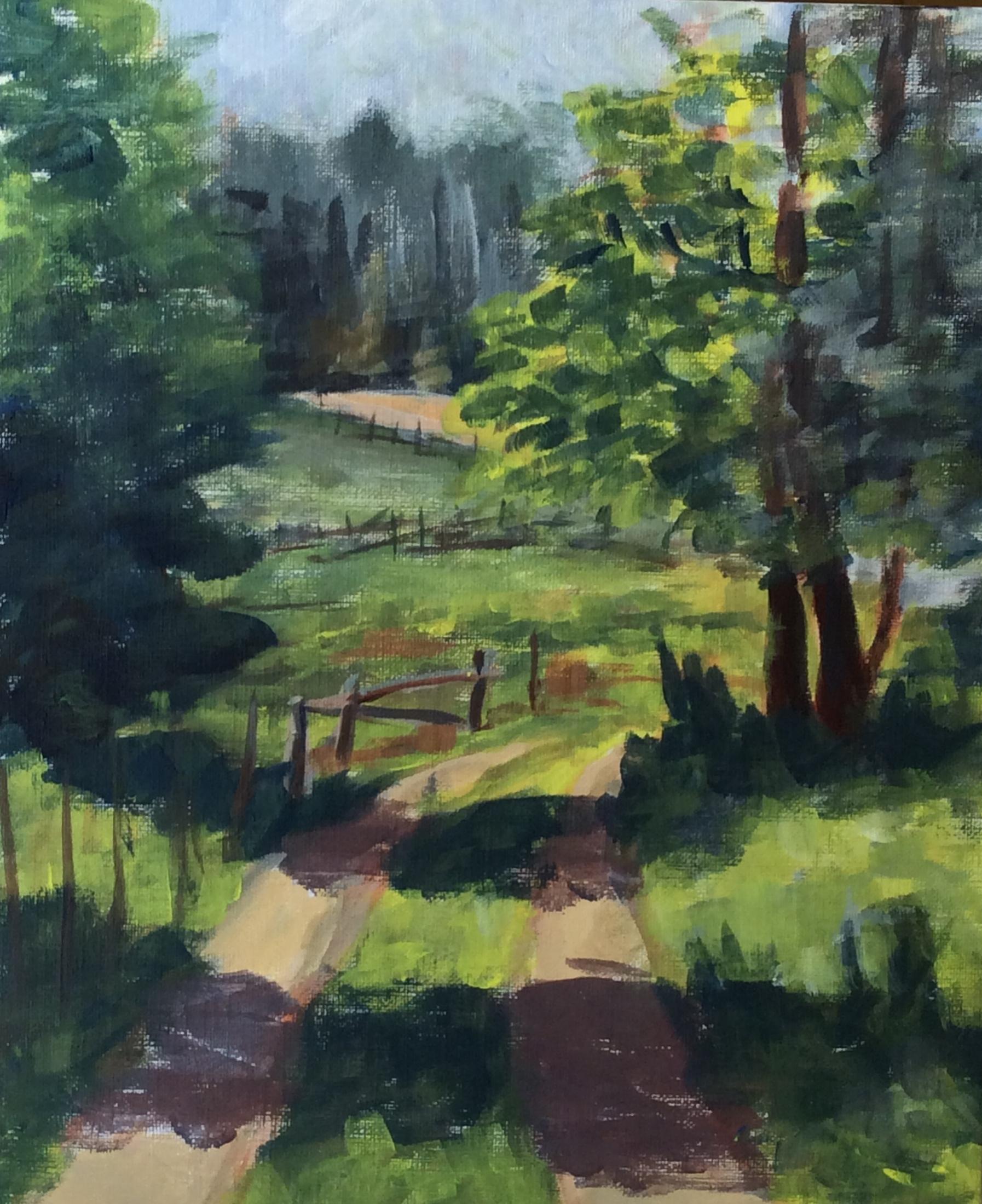 Timbers Road   Acrylic 10 x 8
