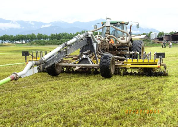 Aerway sub-surface manure deposition system