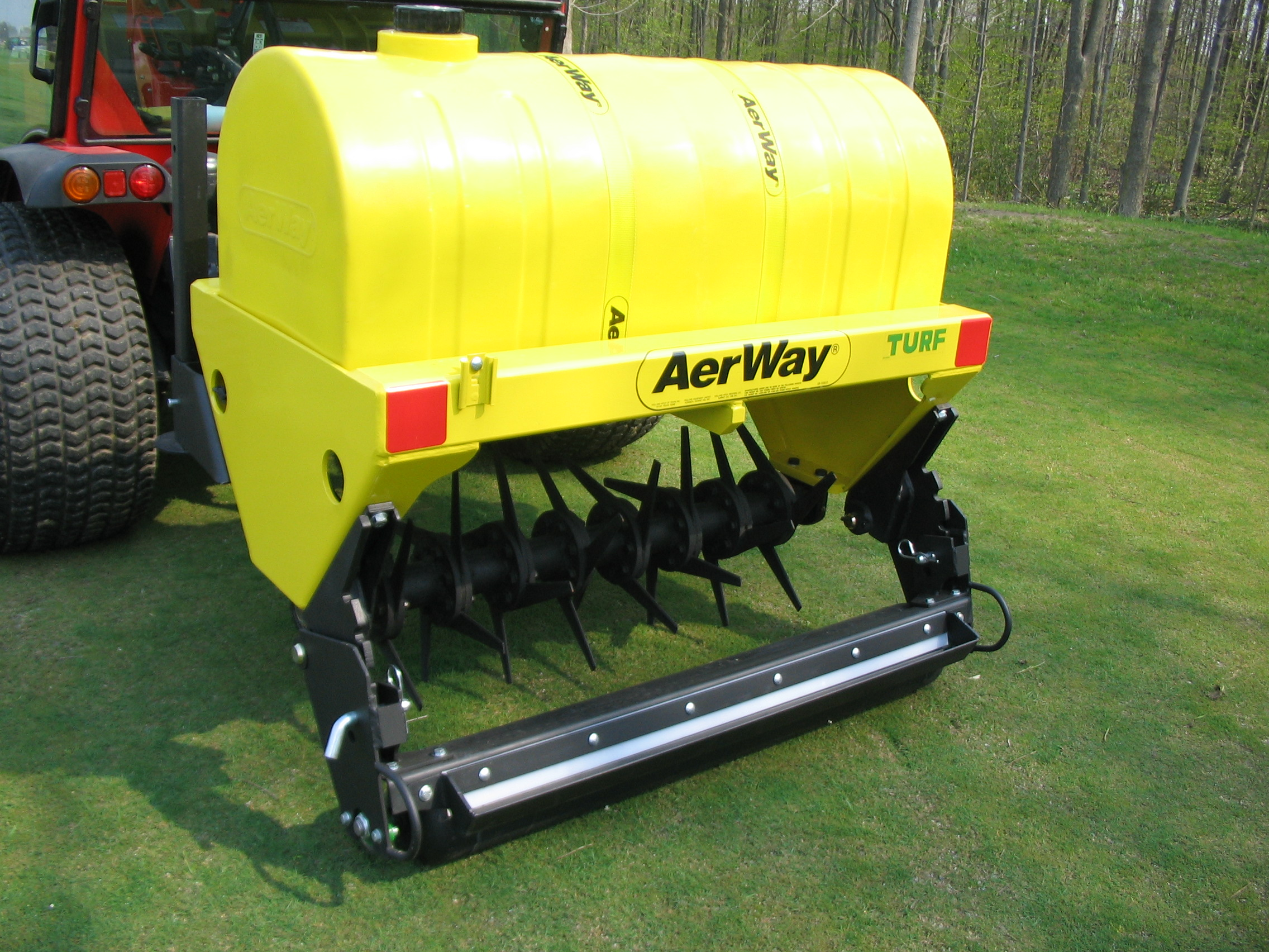 Aerway 3 point hitch turf aeration