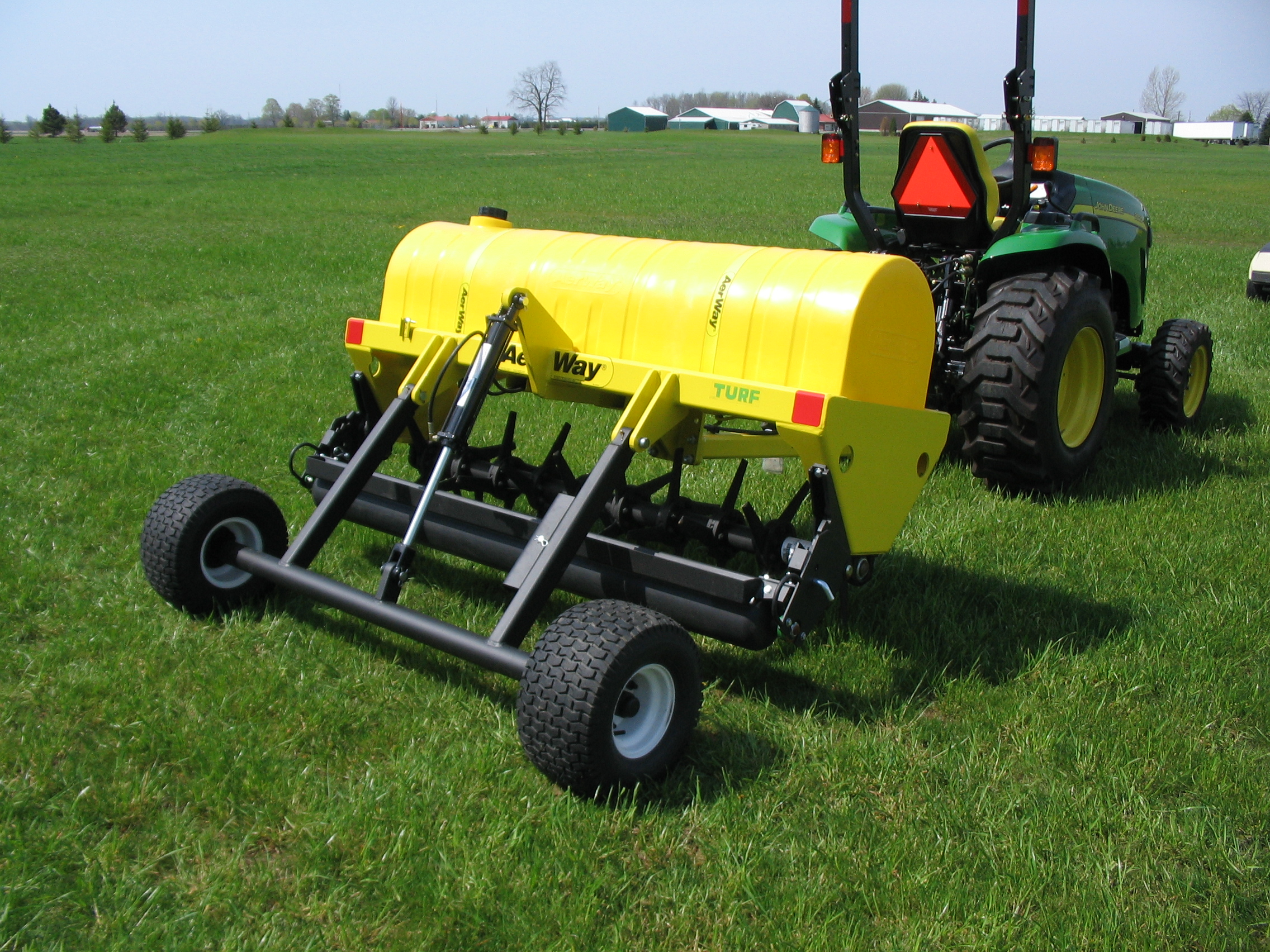 aerway pull type with pneumatic turf tires