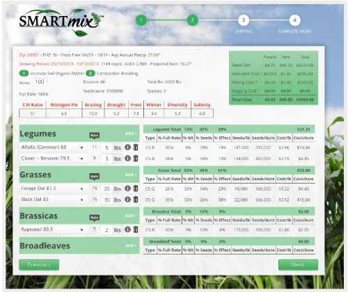 SmartMix Calculator