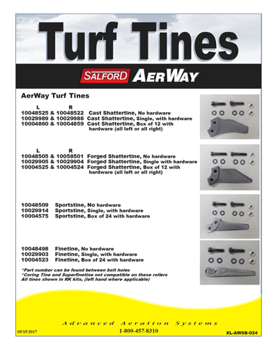 Aerway Turf Specs