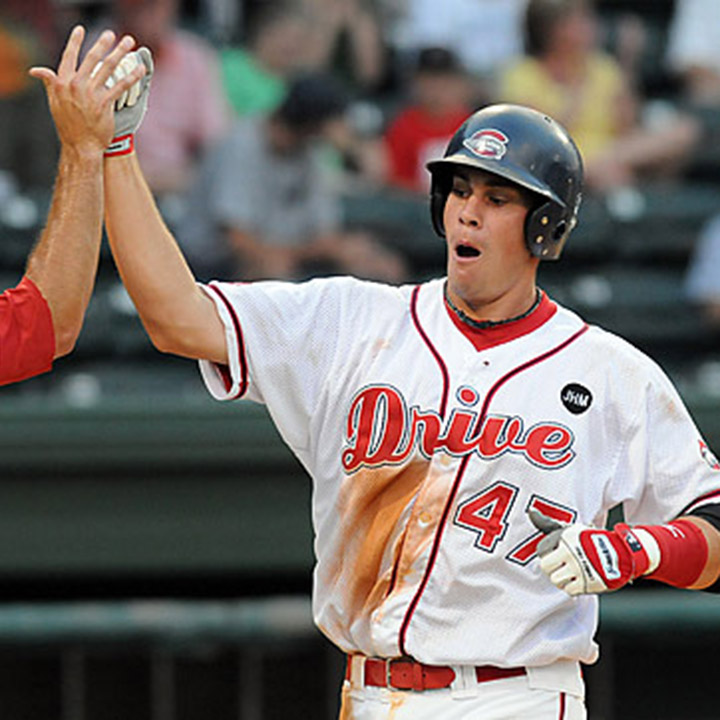 Kade Keowen   (Born April 18, 1986) Played for the Greenville Drive and went to LSUE and is from Baton Rouge, LA.  Source: http://snapshots.mlblogs.com/2009/08/16/kade-keowen-greeted-after-hitting-a-homer/
