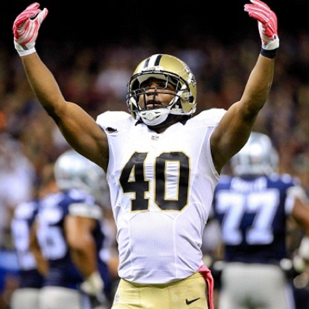 DELVIN BREAUX    NFL Defensive Back    New Orleans Saints