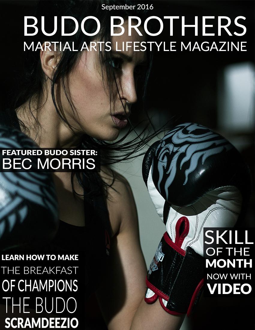 Budo Brothers Martial Arts Lifestle Magazine September 2016.jpg