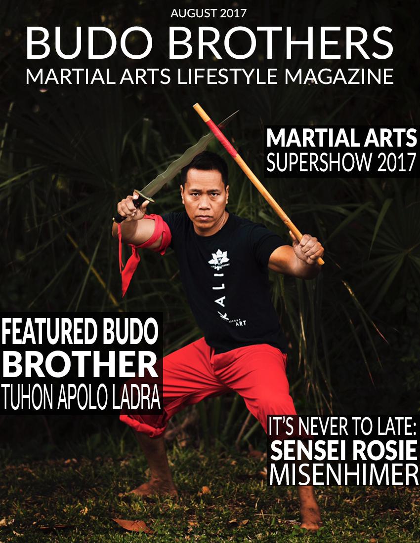 Budo Brothers Martial Arts Lifestle Magazine August 2017.jpg