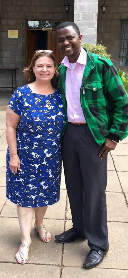 David Gray and Nancy Bocskor at SavvyPol's September 2016 training events in Nairobi.