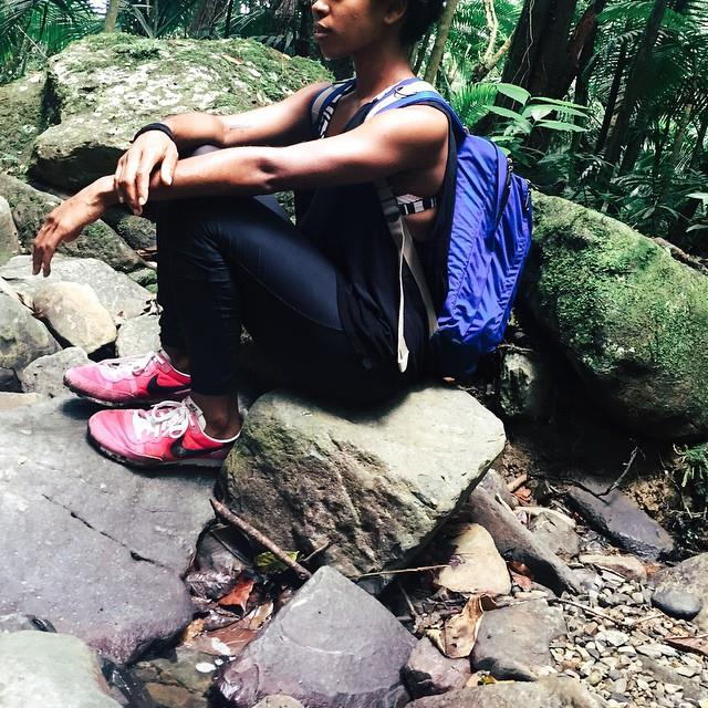 El Yunque Rainforest, Puerto Rico, active but still not confident in my skin